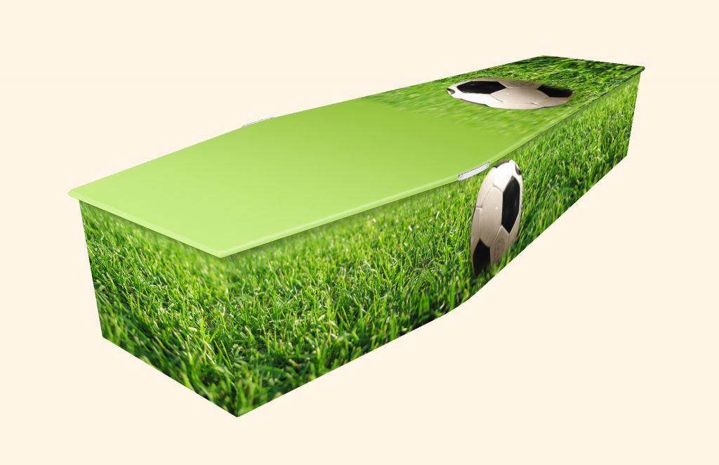 Football Grass Picture Coffin