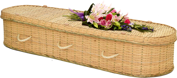 Eco Bamboo Round Coffin